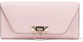 Valentino Garavani Demilune Studded Leather Clutch