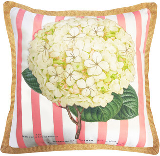 Nybg New York Botanical Garden Hydrangea Indoor/Outdoor Square Throw Pillow
