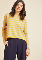 ModCloth Push and Pullover Striped Sweater in S