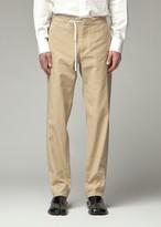 Maison Margiela Men's Tie Waist Pant in Wheat Straw Size 46 Linen/Cotton