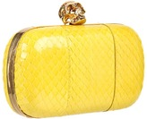 Alexander McQueen Classic Skull Clutch (Bright Yellow) - Bags and Luggage