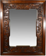 One Kings Lane Vintage Antique Chinese Hand-Carved Mirror