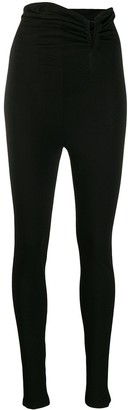 Unravel Project Ruched Waist Skinny Trousers
