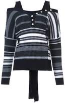Derek Lam 10 Crosby Off The Shoulder Sweater With Button Detail