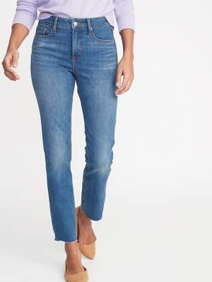 Old Navy High-Waisted Power Slim Straight Jeans For Women
