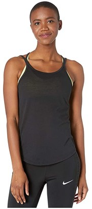 Nike Yoga Strappy Tank (Black/Dark Smoke Grey) Women's Clothing