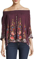 Johnny Was Harlith Embroidered Off-the-Shoulder Top