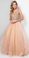 Terani Couture Two Tone Beaded Illusion Princess Ball Gown