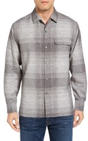 Tommy Bahama Men's Big & Tall Orinoco Plaid Silk & Cotton Sport Shirt