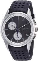 Calvin Klein Men's 40mm Calfskin Band Steel Case Swiss Quartz Chronograph Watch K5A371C3