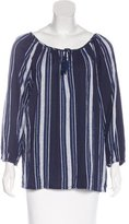 Joie Striped Bishops Sleeve Top