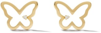 As 29 14kt yellow gold diamond Butterfly stud earrings