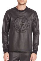 Versace Tiger Embroidered Metallic Sweatshirt