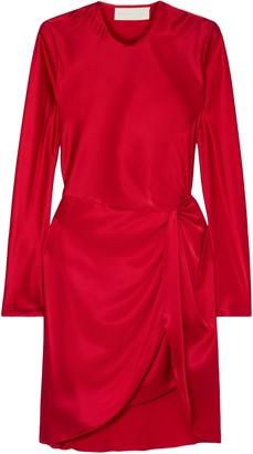 Mason by Michelle Mason Twisted Silk-satin Mini Dress