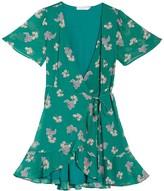 Lush Isabella Short Sleeve Wrap Dress