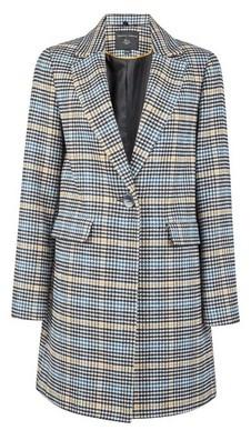 Dorothy Perkins Womens Check Lined Boyfriend Wool Look Coat