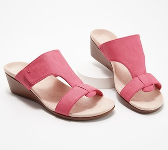 Vionic Adjustable Slide Wedge Sandals - Regina