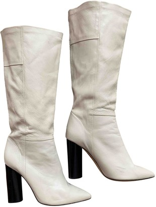 IRO Beige Leather Boots