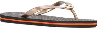 MICHAEL Michael Kors Logo-Print Flip Flops
