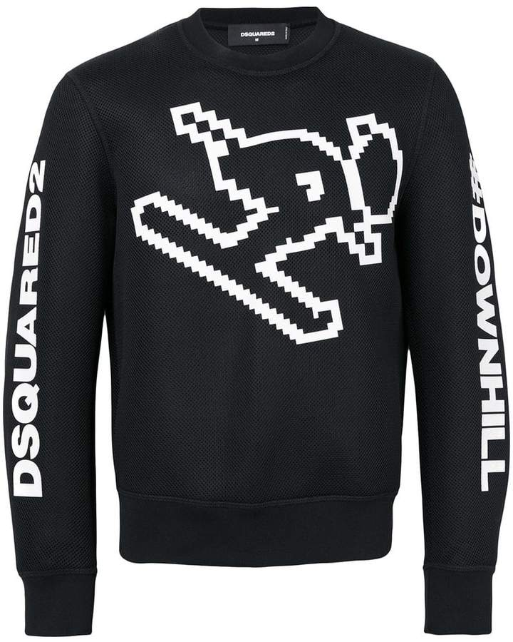 DSQUARED2 pixelated ski sweatshirt