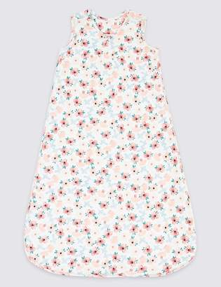 Marks and Spencer Pure Cotton 2.5 Tog Floral Print Sleeping Bag