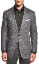 Isaia Donegal Two-Button Jacket, Gray
