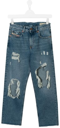 Diesel distressed slim-fit jeans