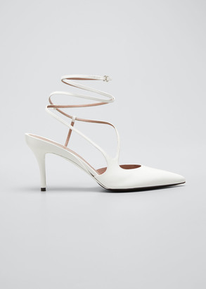 Fenty Date Night Ankle-Wrap Leather Pumps