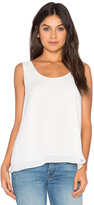 Heather Silk Double Layer Tank