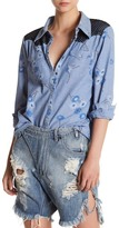 One Teaspoon Wild Saloon Floral Chambray Shirt