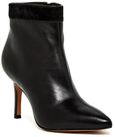Nicole Miller Chelsea Genuine Pony Hair Trim Pointed Toe Bootie