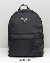 Reclaimed Vintage Lightweight Chevron Backpack Black