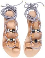 Iris St. Tropez Gladiator Rope Sandals With Ceramic Stones