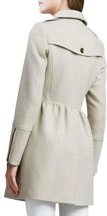 Burberry Zip-Detail Woolen Trenchcoat