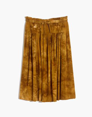 Madewell Tie-Front Paperbag Midi Skirt in Tie-Dye