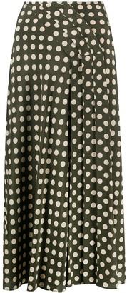 Aspesi Polka Dot Silk Skirt