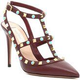 Valentino Rockstud Rolling Ankle Strap Sandals