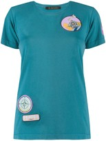 Mr & Mrs Italy embroidered patch T-shirt