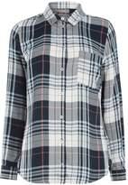 Oasis Check Dip Hem Shirt