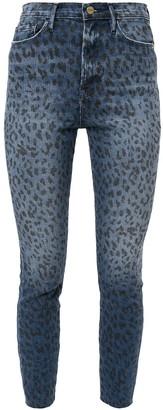 Frame Animal Print Skinny Jeans
