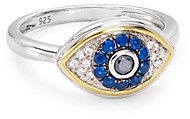 Bloomingdale's Marc & Marcella Diamond Evil Eye Ring in Sterling Silver & 14K Gold-Plated Sterling Silver, 0.11 ct. t.w. - 100% Exclusive