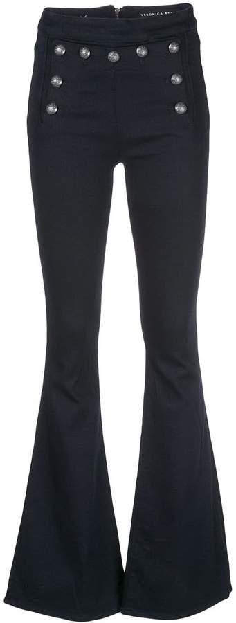 Veronica Beard button flared jeans
