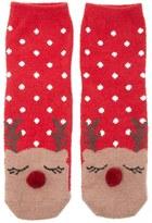 Forever 21 FOREVER 21+ Fleece Reindeer Socks