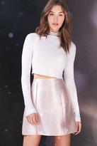 Silence & Noise Silence + Noise Stella Crinkle Shine Mini Skirt