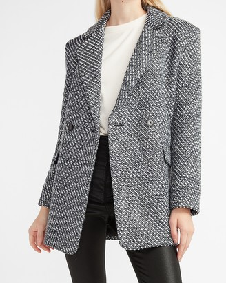 Express Metallic Blazer Coat