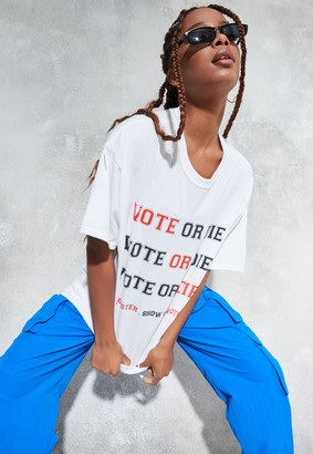 Missguided Sean John X White Vote Or Die T Shirt