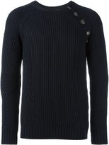 Pierre Balmain button detail ribbed sweater