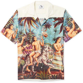Aloha Camp-Collar Printed Tencel Shirt