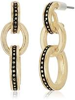 "Laundry by Shelli Segal Melrose Place"" Beaded Link Drop Earrings"