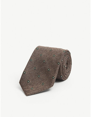 Bigi Cravatte Daisy textured-pattern silk tie